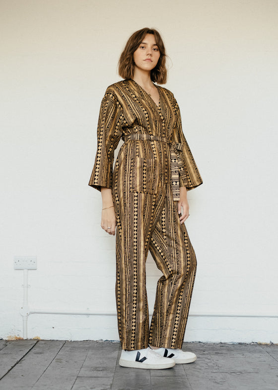 Playsuit in Golden Cabaret Stripe-Jumpsuit-Sancho's Dress