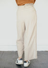 Pleated Trousers in Cream-Trousers-Sancho's Dress