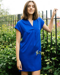 Niaa in Signal Blue-Dress-Sancho's Dress