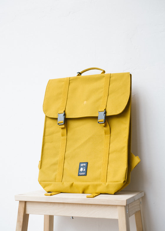 Eco Handy Backpack in Mustard-Bag-Sancho's Dress