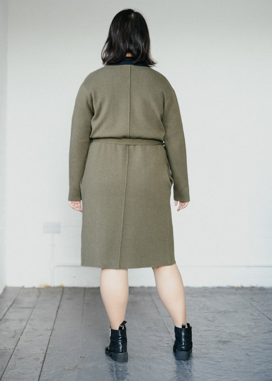 Sevaal in Moss Green-Cardigan-Sancho's Dress