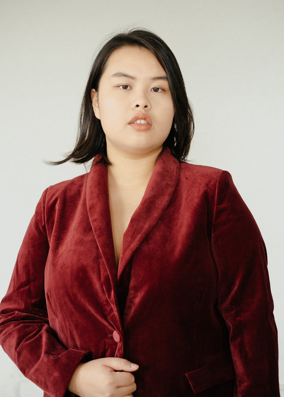 Zillah Jacket in Redcurrant Red-Jacket-Sancho's Dress