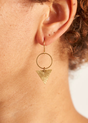 Triangle and Circle Earrings-Earrings-Sancho's Dress
