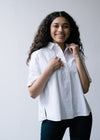 Organic Cotton Saimaa Boxy Shirt in White from Armedangels