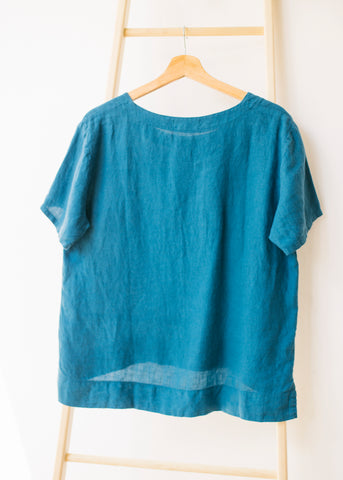 Basic Short Sleeve T-shirt in Teal-Top-Sancho's Dress