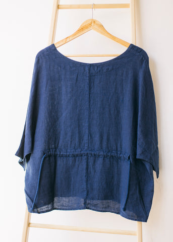 Boxy Square Dolman Top in Blue-Top-Sancho's Dress