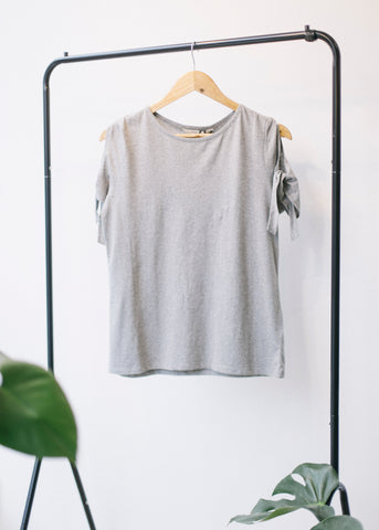 Emery Top in Grey Melange-Top-Sancho's Dress