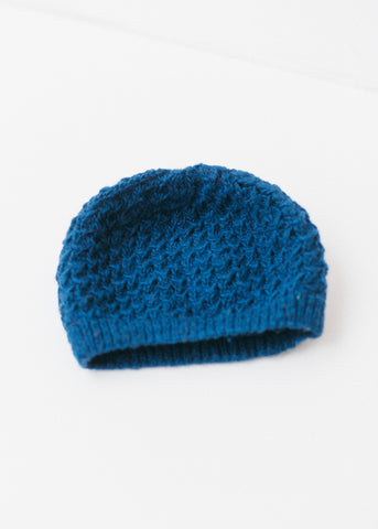 Textured Beanie in Blue-Hat-Sancho's Dress