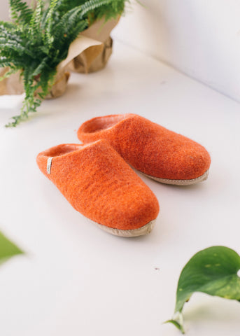 Egos Slippers in Cinnamon-Shoes-Sancho's Dress