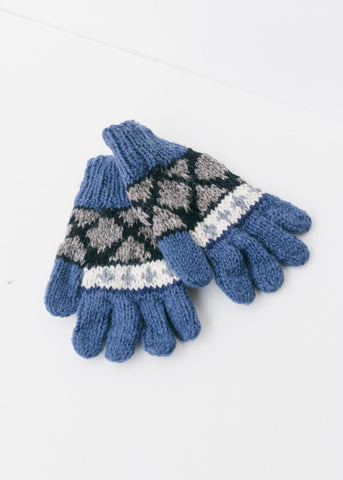 Annapurna Pair of Wool Finger Gloves-Gloves-Sancho's Dress