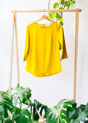 Hedda Bow in Mustard-Top-Sancho's Dress