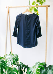 Hedda Bow in Dark Navy-Top-Sancho's Dress