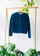 Honeycomb Cardigan in Blue-Cardigan-Sancho's Dress