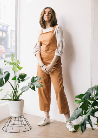 Jessie Dungarees in Hazel Twill-Dungarees-Sancho's Dress
