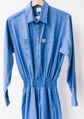 'Frankie' Oversized Organic Boilersuit in Blue-Dungarees-Sancho's Dress