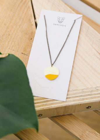 Entity Necklace in Mustard-Necklace-Sancho's Dress