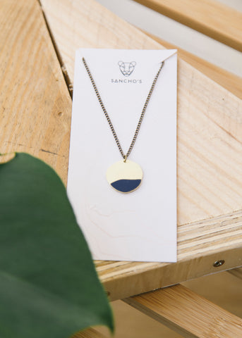 Entity Necklace in Navy-Necklace-Sancho's Dress