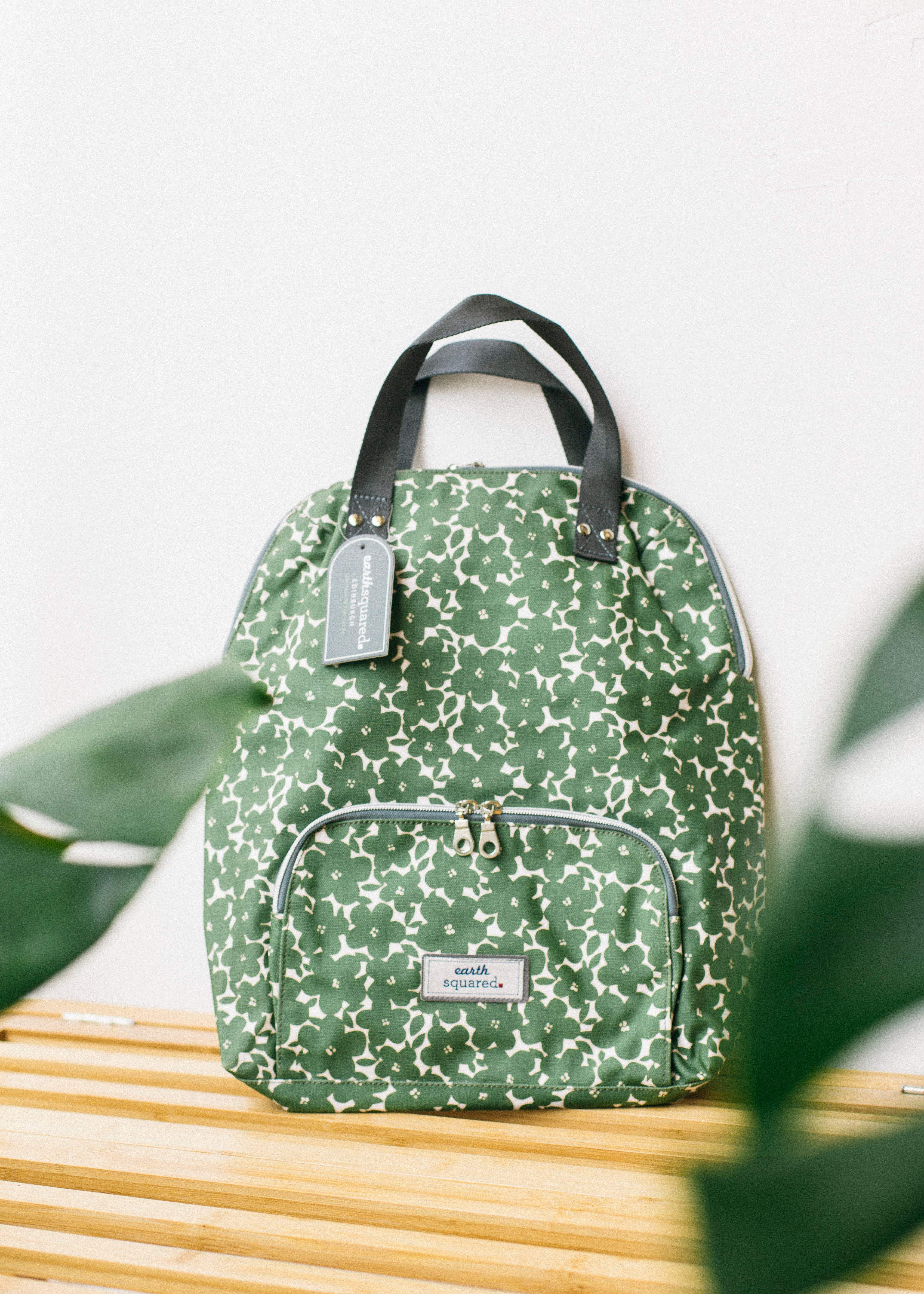 Autumn Flower Oil Cloth Backpack-Bag-Sancho's Dress