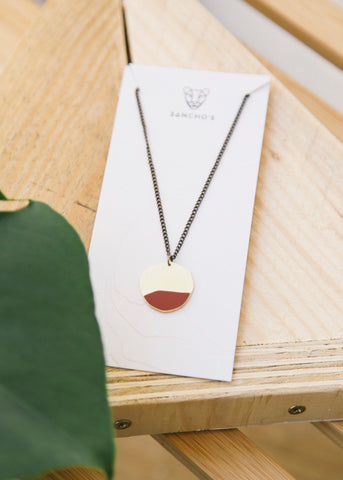 Entity Necklace in Dark Red-Necklace-Sancho's Dress