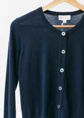 Defne in Navy-Cardigan-Sancho's Dress