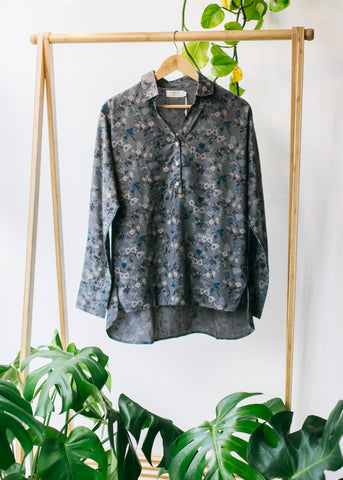 Greta Relaxed Shirt in Floral-Top-Sancho's Dress