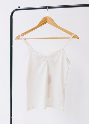 Jemma Camisole Top in White-Underwear-Sancho's Dress