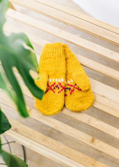 Fairisle Mittens in Yellow-Gloves-Sancho's Dress