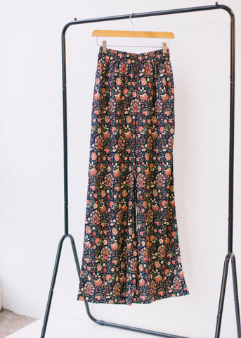 V&A Yasmin Print Trousers-Trousers-Sancho's Dress