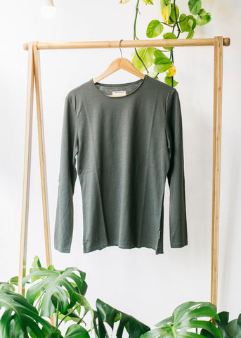 Jost in Olive-LS T-Shirt-Sancho's Dress