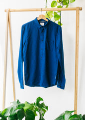 Lennard Check in Dark Navy-Shirt-Sancho's Dress