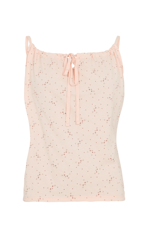 Cat Print Pyjama Camisole in Pink
