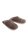 Ethically Made Wool Slippers in Natural Brown from Egos