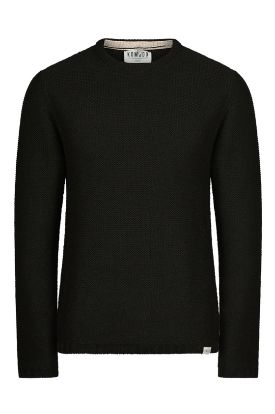 Merino Wool Bernie Jumper in Black from Komodo