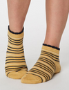 Lorraine Stripey Ankle Socks in Buttercup