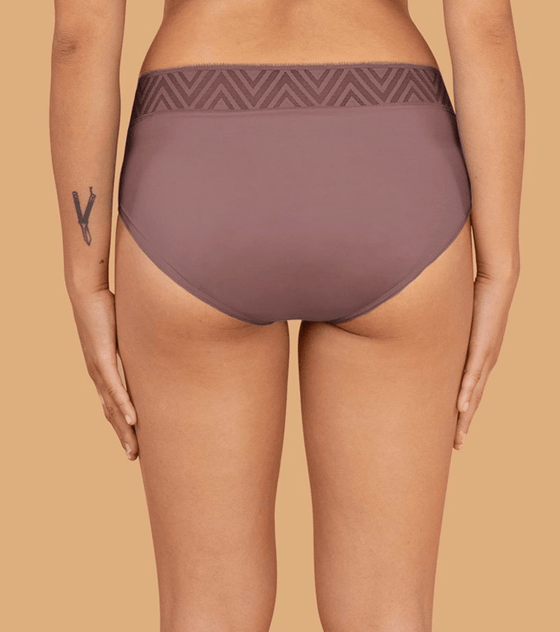 Eco Friendly Period Pants Hiphuggers in Dusk Pink from THINX