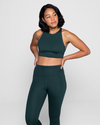 Sustainable Recycled PET Green Sports Bra from Black-owned Affordable Sancho's Exeter