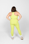 Girlfriend Compressive High Rise Leggings in Lime
