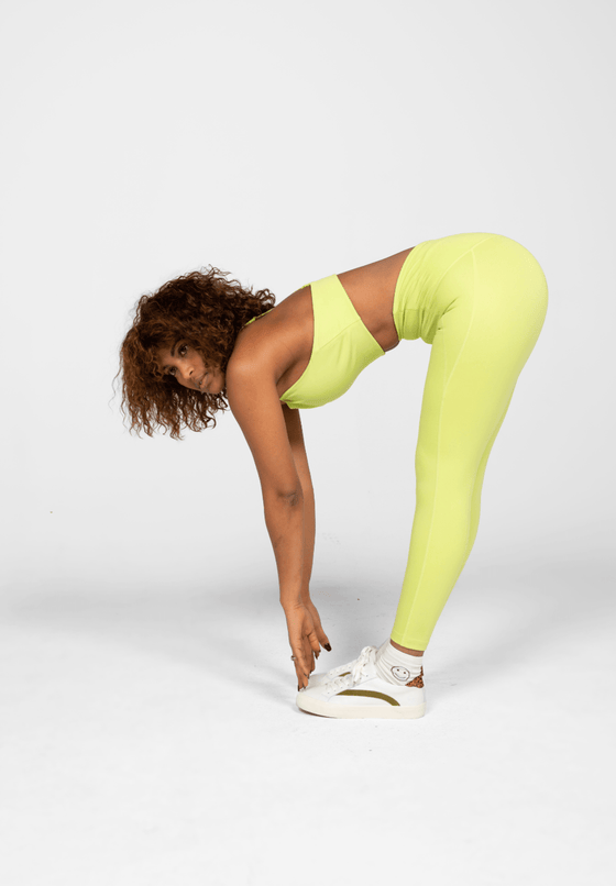 Recycled PET Compressive High Rise Leggings in Lime Green from Girlfriend Collective