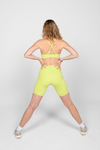 Girlfriend Topanga Sports Bra in Lime