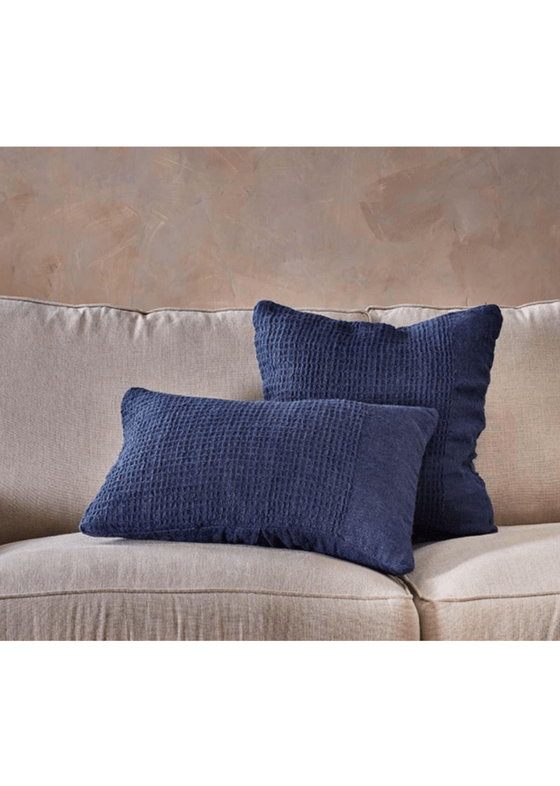 Kadin Cushion Cover in Indigo