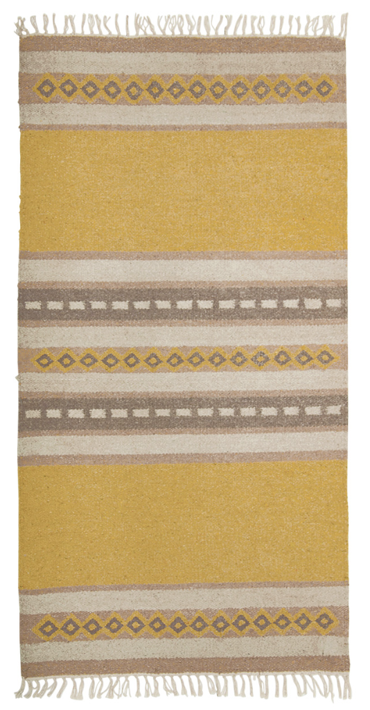 100% Recycled Cotton Yarn Patterned Rug from Namaste