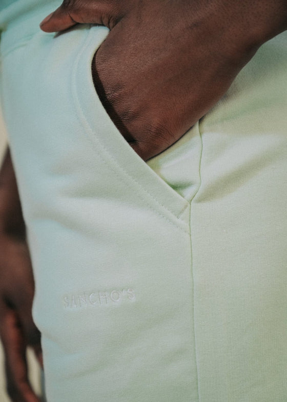 90's Jogger Shorts in Stem Green
