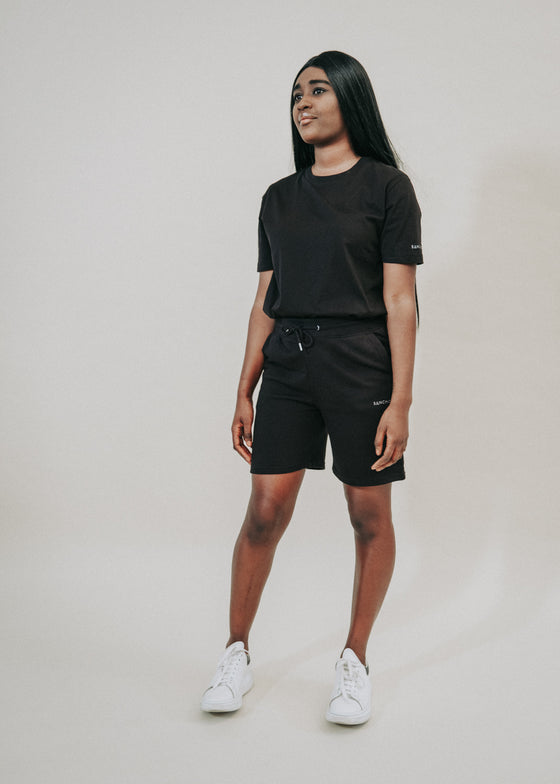 The Comfort Capsule in Black with Shorts
