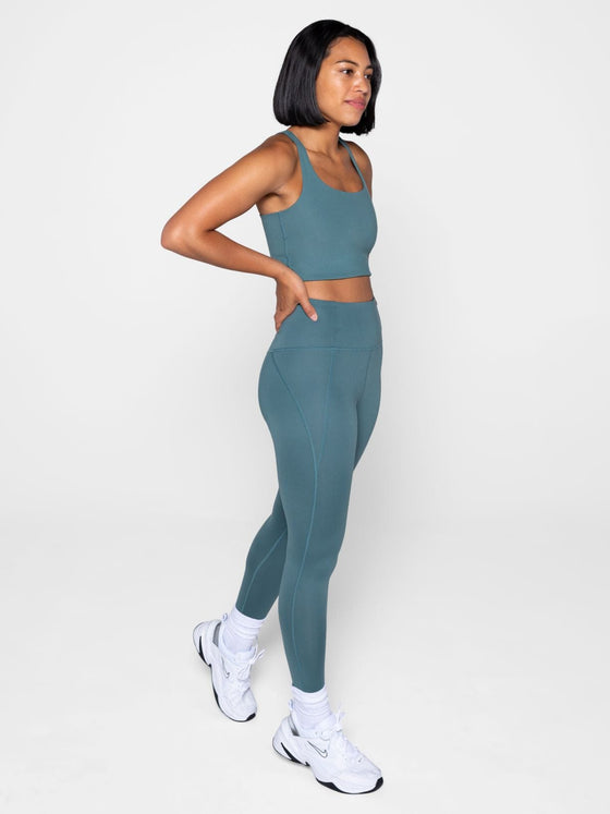 Girlfriend Compressive High Rise Leggings in Jade
