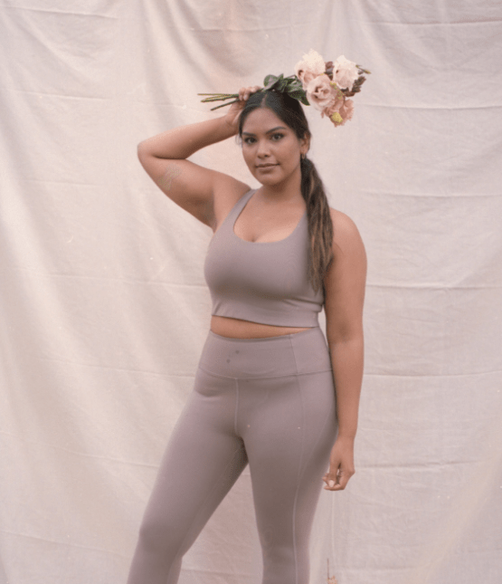 Recycled PET Paloma Sports Bra in Limestone from Girlfriend Collective