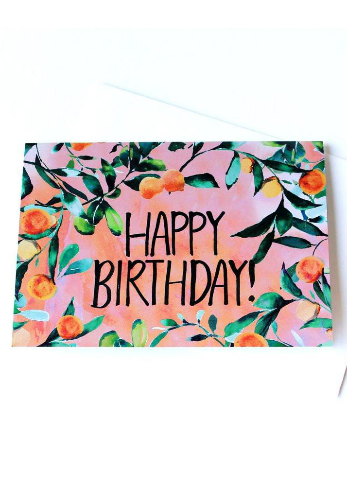 Orange Tree Birthday-Cards-Sancho's Dress