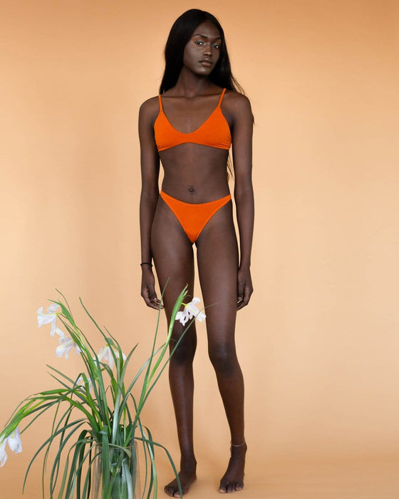 Bamboo Eva G-String Undies in Pumpkin Orange from Hara