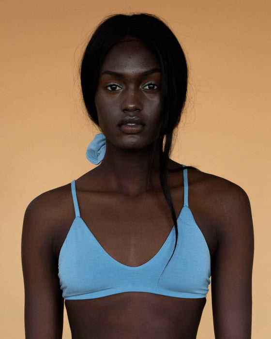Bamboo Stella Low Cut Bra in Powder Blue from Hara