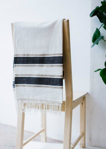 Gondar Throw Navy/Grey-Throw-Sancho's Dress