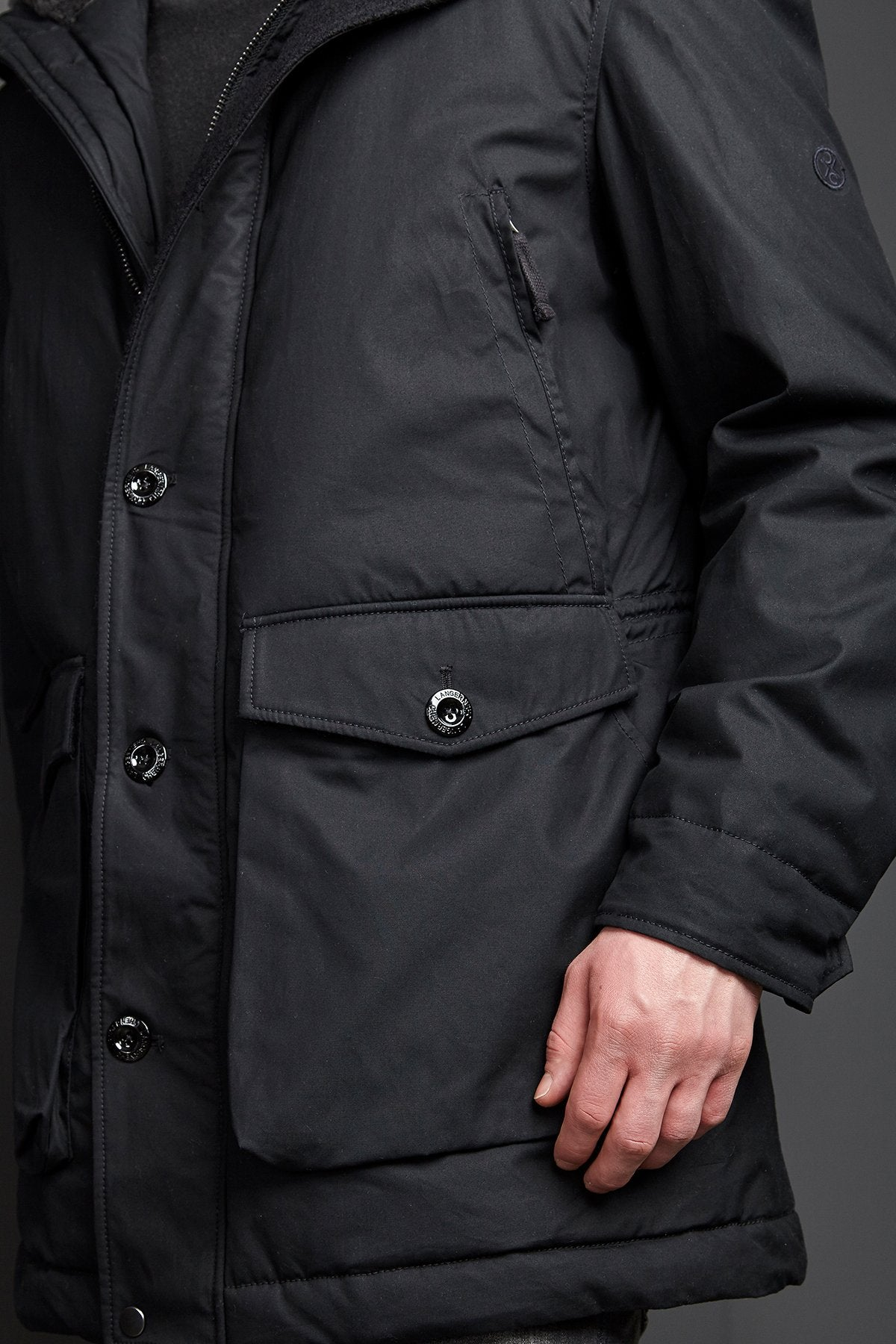 Parka Havelock in Black-Coat-Sancho's Dress